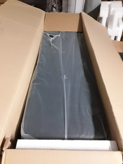Lot 3073 BOXED NAVY FABRIC DIVAN BED BASE SECTION