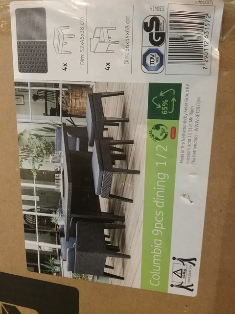 Lot 209 BOXED COLUMBIA DINING SET CHAIRS AND STOOLS ONLY