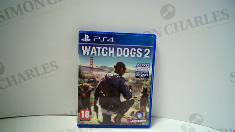 Lot 18009 WATCHDOGS 2 PLAYSTATION 4 GAME