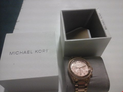 Lot 1528 MICHAEL KORS BLAIR ROSE GOLD STAINLESS STEEL STRAP WATCH  RRP £359