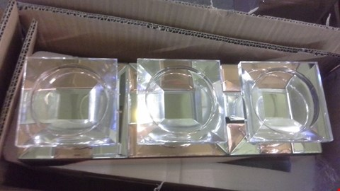 Lot 2218 A LOT OF 3 BOXES OF JM 2 MIRROR TEA LIGHT HOLDERS