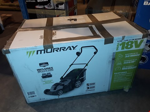 Lot 1076 MURRAY LITHIUM-ION 37 CM CORDLESS LAWN MOWER