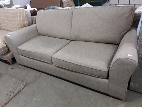 Lot 18 QUALITY BRITISH DESIGNER ASH GREY WEAVE LINCOLN 3 SEATER METAL ACTION SOFA BED