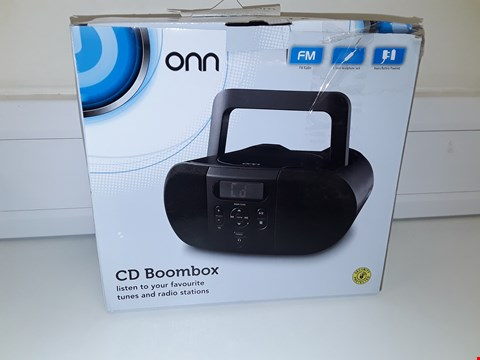 Lot 17 ONN CD BOOMBOX BLACK