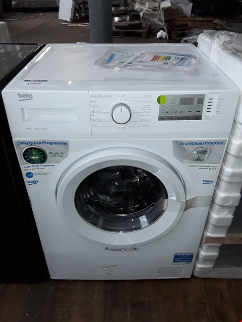 Lot 11052 BEKO WTG841M2W 8KG LOAD, 1400 SPIN WASHING MACHINE - WHITE