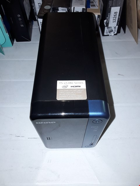 Lot 12273 QNAP TS-453-2G 4 BAY DESKTOP NETWORK ATTACHED STORAGE ENCLOSURE - BLACK