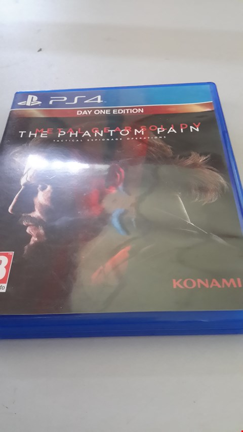 Lot 9027 METAL GEAR SOLID V THE PHANTOM PAIN FOR PLAYSTATION 4