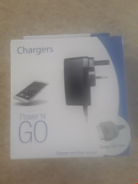 Lot 364 LOT OF 3 BRAND NEW ITEMS TO INCLUDE POWER 'N GO PHONE CHARGERS (NOT COMPATIBLE WITH IPHONE) (BOX DAMAGED)