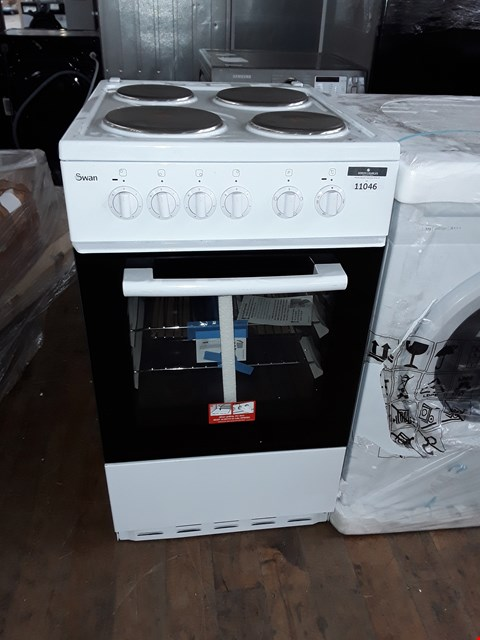 Lot 11046 SWAN SX1011W 50CM SINGLE OVEN ELECTRIC COOKER - WHITE