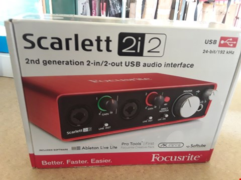 Lot 23 FOCUSRITE SCARLETT 2I2 2ND GENERATION USB AUDIO INTERFACE
