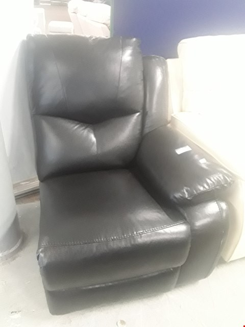 Lot 2057 BLACK FAUX LEATHER MANUALLY RECLINING SOFA SECTION
