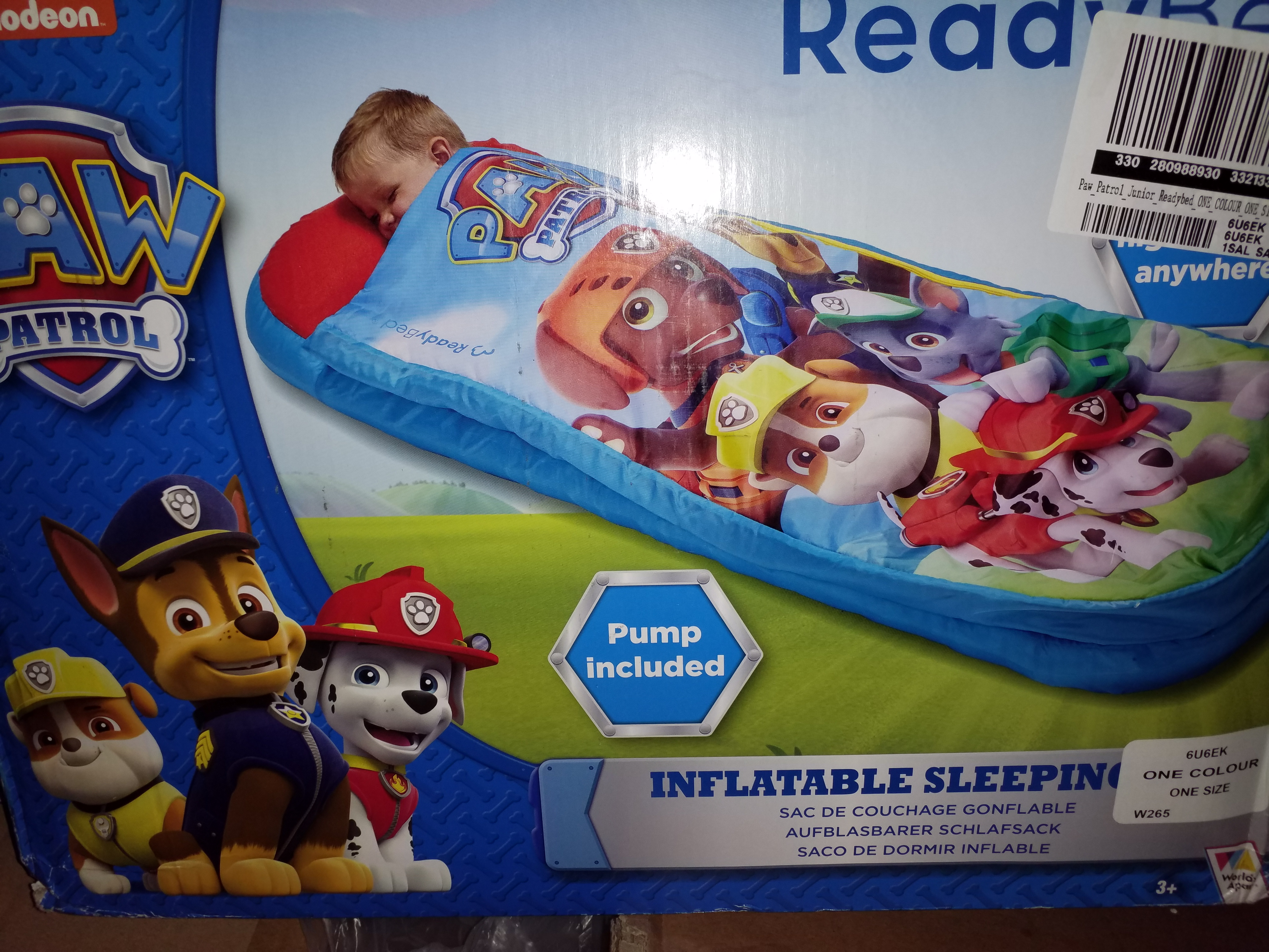 Lot 11036: BOXED PAW PATROL JUNIOR READY BED (1 BOX) AND