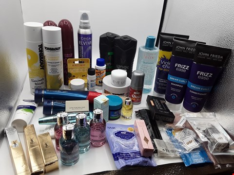 Lot 3 TRAY OF APPROXIMATLY 44 ITEMS OF ASSORTED COSMETIC ITEMS