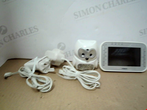 Lot 16192 VTECH SAFE AND SOUND OWL COLOUR VIDEO AND AUDIO BABY MONITOR