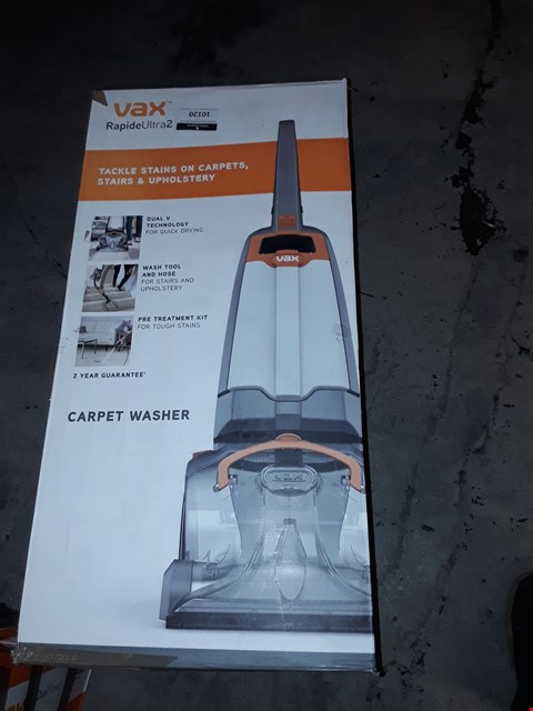 Lot 10120 VAX RAPIDE ULTRA 2 CARPET WASHER