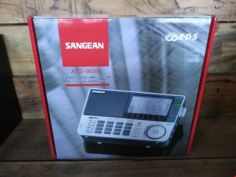 Lot 31 BOXED SANGEAN ATS 909X PLL SYNTHESIZED RECEIVER