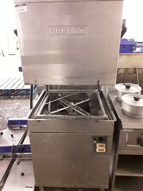 Lot 2104 HOBART PASS THROUGH DISHWASHER