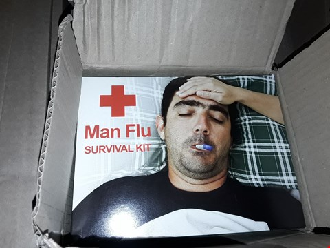 Lot 10878 LOT OF 2 ASSORTED GRADE 1 ITEMS TO INCLUDE A MAN FLU SURVIVAL KIT AND A PERSONALISED FAMILY WALL CLOCK  RRP £49.00
