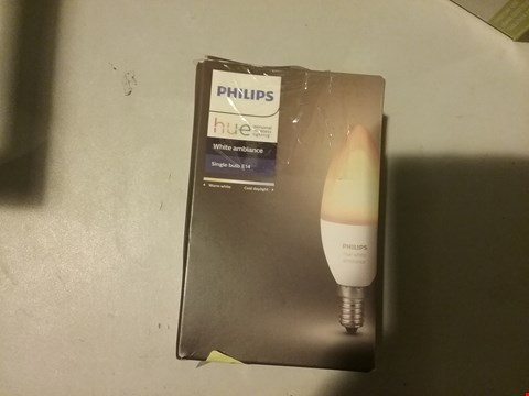 Lot 5850 PHILIPS HUE WHITE AMBIANCE SINGLE BULB E14