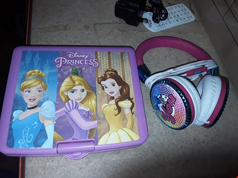 Lot 9292 JO JO FASHION HEADPHONES AND DISNEY PRINCESS PORTABLE DVD PLAYER RRP £130.00
