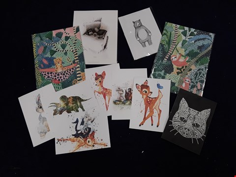 "Lot 40 11 ASSORTED ANIMAL-THEMED ARTWORKS, INCLUDING ""TURPS"" PRINT"