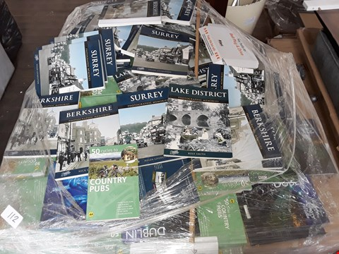 Lot 112 PALLET OF ASSORTED PICTURE AND GUIDE BOOKS