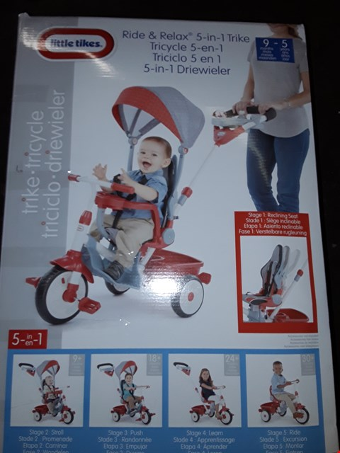 Lot 3569 BOXED GRADE 1 LITTLE TIKES 5 IN 1 DELUXE RIDE & RELAX RECLINER TRIKE RRP £169.99