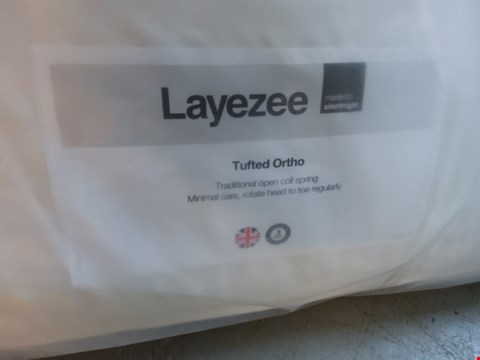 "Lot 24 QUALITY BAGGED LAYEZEE TUFTED ORTHO 4'6"" MATTRESS"