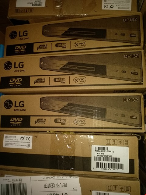 Lot 1554 LOT OF 6 LG DP132 DVD PLAYERS (BOX CONDITION MAY VARY)