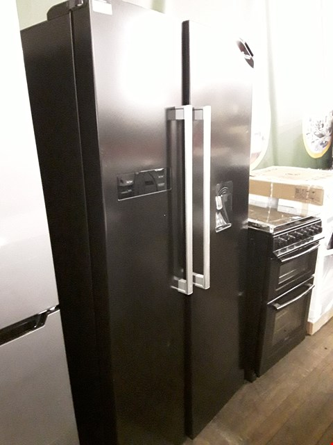 Lot 62 SWAN SR70110B BLACK AMERICAN STYLE FRIDGE FREEZER WITH WATER DISPENSER  RRP £1019.99