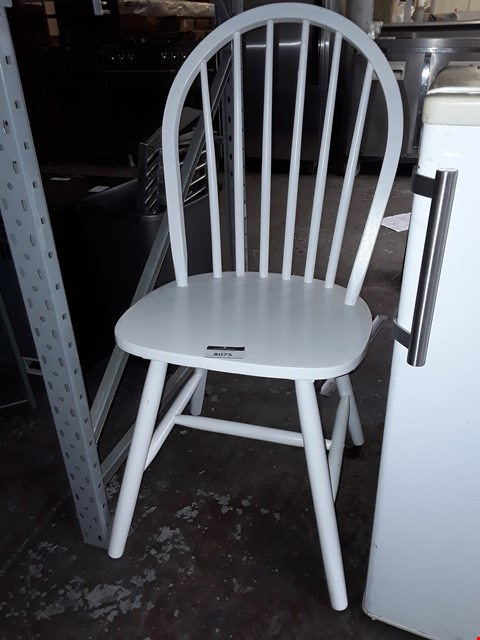 Lot 8075 WHITE PAINTED FINISH DINING CHAIR