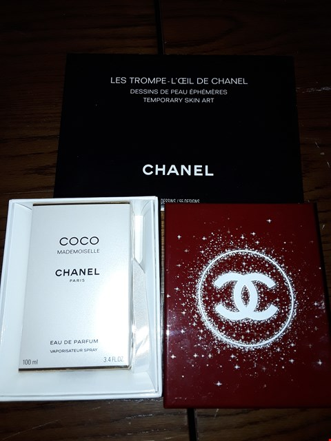 Lot 2120 3 ITEMS TO INCLUDE CHANEL COCO MADEMOISELLE EDP 100ML AND 2 X CHANEL TEMPORARY SKIN ART