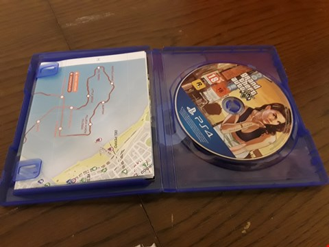 Lot 9062 GRAND THEFT AUTO V PS4 GAME