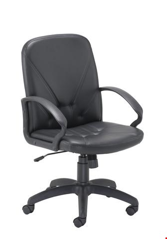 Lot 15002 BRAND NEW BOXED SMALL SLAM MID BACK LEATHER LOOK OFFICE CHAIR
