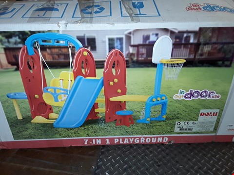 Lot 823 BOXED DOLU 7-IN-1 PLAYGROUND RRP £235