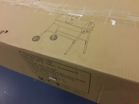 Lot 6205 OIL DRUM BBQ WITH COVER (1 BOX) RRP £74.99
