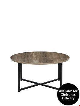 Lot 7864 GRADE 1 TELFORD INDUSTRIAL ROUND COFFEE TABLE  RRP £59.00