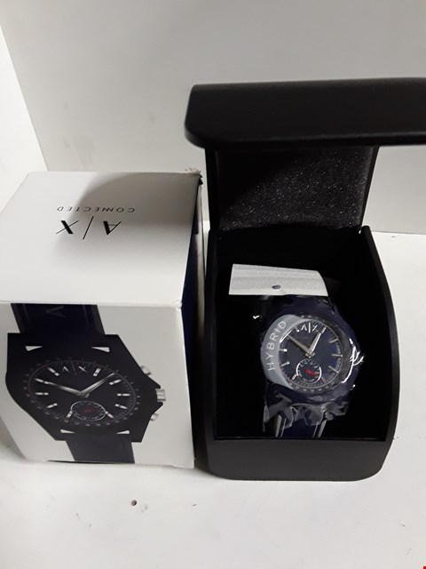 Lot 4 ARMANI EXCHANGE CONNECTED BLUE DIAL WATCH  RRP £220