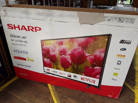 "Lot 1006 SHARP 40"" 4K ULTRA HD SMART LED TELEVISION MODEL LC-40U17352K"