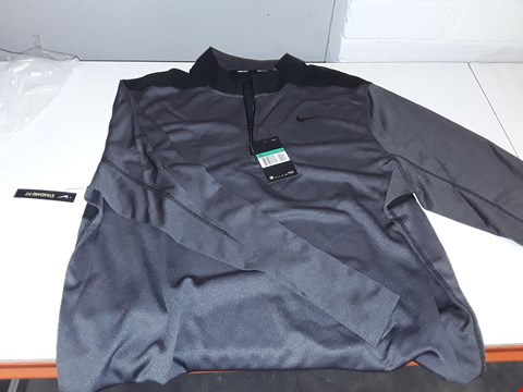 Lot 5362 BAGGED BRAND NEW NIKE GOLF MENS LONG SLEEVE DRI-FIT SHIRT SIZE XL IN GREY