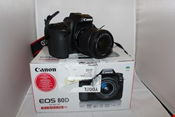 Lot 14 CANON EOS 80D SLR CAMERA WITH EF-S 18-55MM LENS RRP £1569