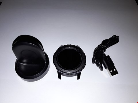 Lot 710 SAMSUNG GEAR S3 FRONTIER SM-R760 - BLACK, WIRELESS CHARGER INCLUDED