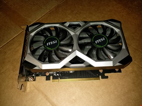 Lot 18766 MSI NVIDIA GEFORCE GTX 1650 VENTUS XS 4G OC GRAPHICS CARD 4 GB GDDR5, 1740 MHZ, DISPLAYPORT, HDMI, DVI-D, DUAL FAN COOLING SYSTEM