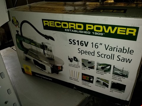 """Lot 716 RECORD POWER SS16V 16"""" VARIABLE SPEED SCROLL SAW"""