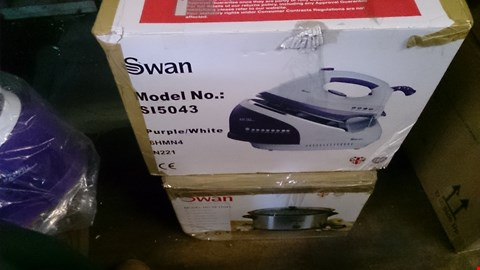 Lot 227 2 BOXED ITEMS TO INCLUDE SWAN STEAM GENERATOR IRON AND SWAN SLOW COOKER