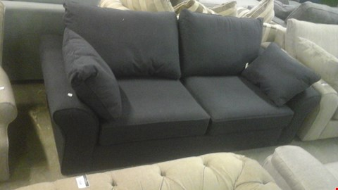 Lot 1248 DESIGNER BLACK FABRIC 3 SEATER SOFA WITH STORAGE