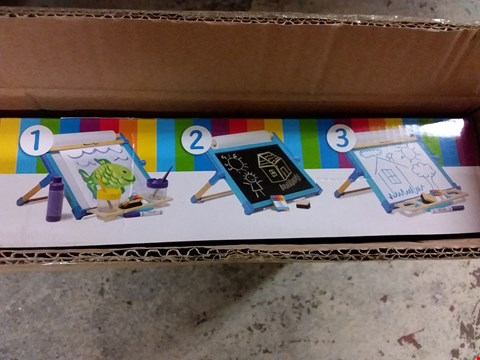 Lot 91 BOXED MELISSA & DOUG WOODEN DOUBLE SIDED TABLE TOP EASEL RRP £39.99