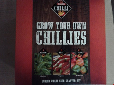 Lot 776 LOT OF 5 ITEMS TO INCLUDE A COSTA CUP AND SAUCER SET, 2 GROW YOUR OWN CHILLI SETS, A PERSONALISED CRYSTAL BRANDY GLASS ETC RRP £121