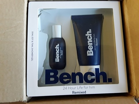 Lot 2320 3 GRADE 1 ITEMS TO INCLUDE BENCH FOR HIM REMIXED EDT & SHOWER GEL AND PRE LIT BRONZE GARLAND RRP £102