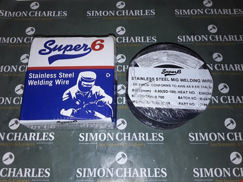Lot 4062 SUPER 6 STAINLESS STEEL WELDING WIRE 0.8MM - 0.7KG